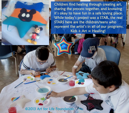 Kids with serious health challenges become normal kids when creating art. And that is healing!